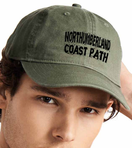 Northumberland Coast Path baseball cap