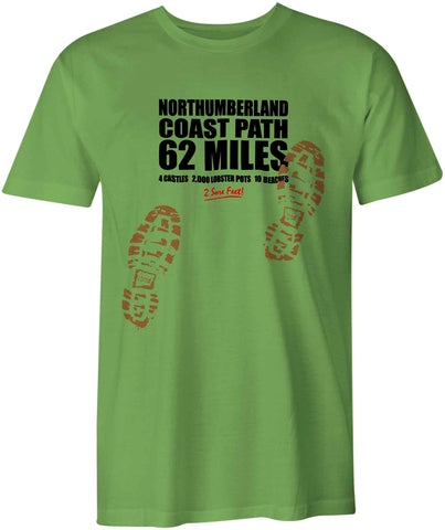 Northumberland Coast Path 'Sore Feet' t-shirt
