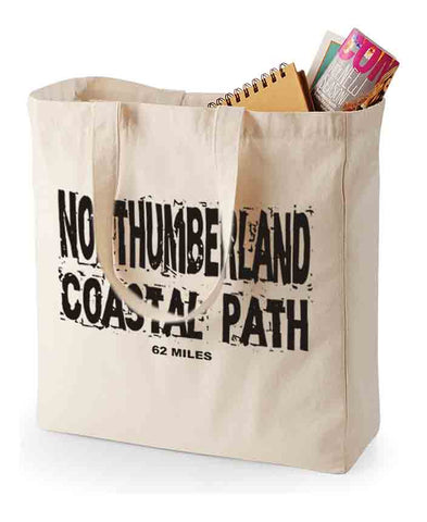 Northumberland Coast Path canvas shopping bag