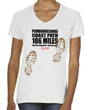 Pembrokeshire Coast Path 'Sore Feet' women's v-neck t-shirt