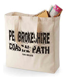 Pembrokeshire Coast Path canvas shopping bag