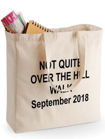 North Downs Way canvas shopping bag