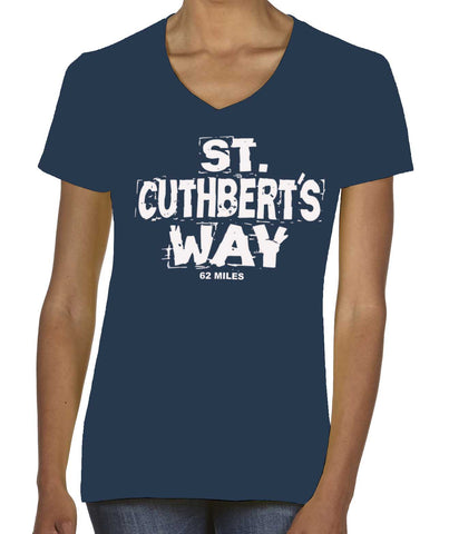St Cuthbert's Way women's v-neck t-shirt