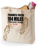 Thames Path 'Sore Feet' canvas shopping bag