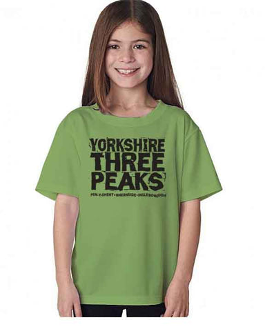 Yorkshire Three Peaks kid's t-shirt
