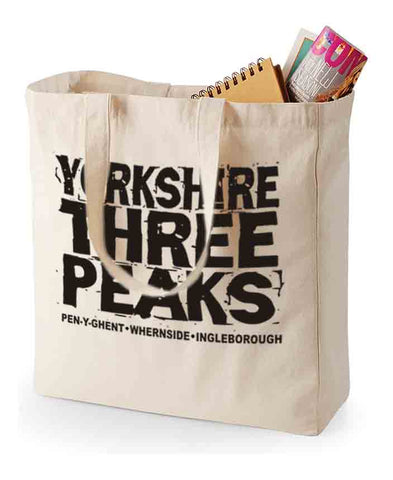 Yorkshire Three Peaks canvas shopping bag
