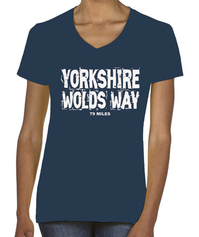 Yorkshire Wolds Way women's v-neck t-shirt