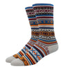 SILVER CREW DRESS SOCKS | AZTEC