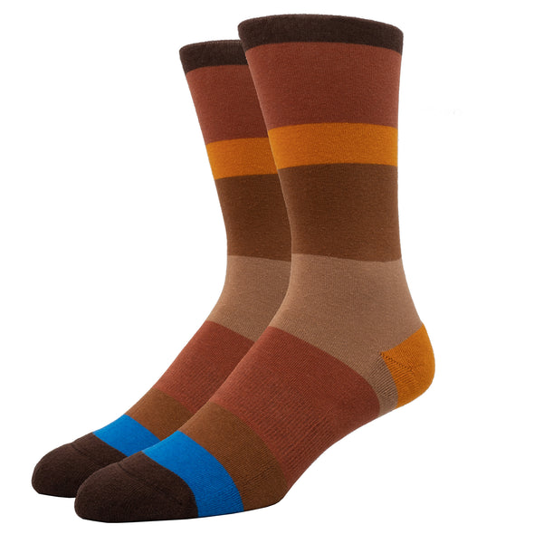 SILVER CREW DRESS SOCKS | BIG BROWN