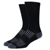 SILVER CREW DRESS SOCKS | BLACK WITH GREY RIB