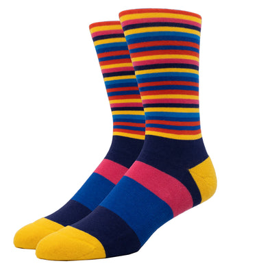 MEN'S SILVER CREW SOCKS | BLUE CANDY