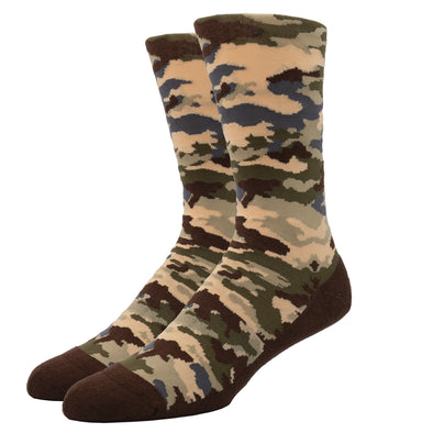MEN'S SILVER CREW SOCKS | BROWN CAMO