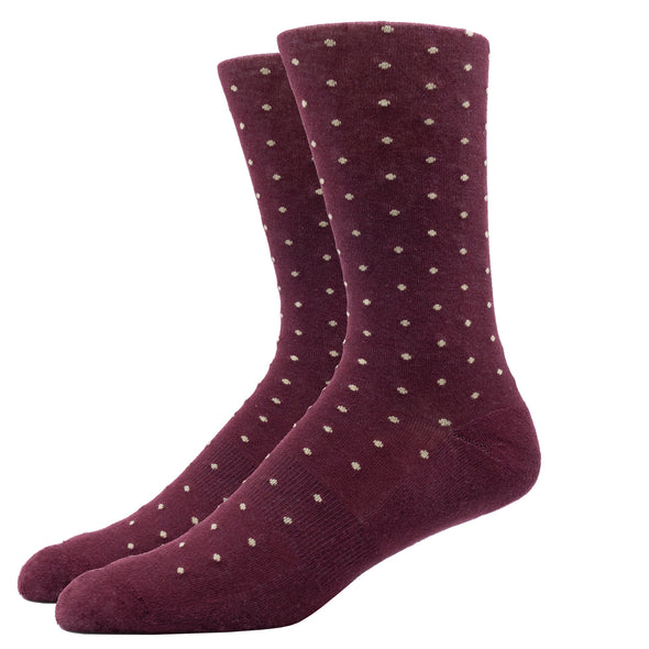 SILVER CREW DRESS SOCKS | DOTTED ROUGE