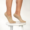 WOMEN'S SILVER NO SHOW SOCKS | BEIGE
