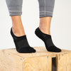 WOMEN'S SILVER NO SHOW SOCKS | BLACK