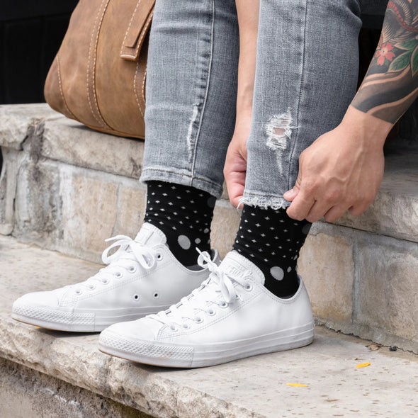 SILVER CREW DRESS SOCKS | THE GREYS