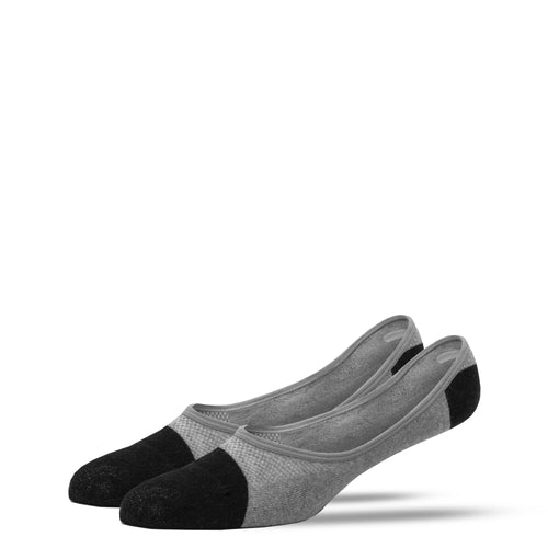 SILVER INVISIBLE SOCKS | GREY WITH BLACK
