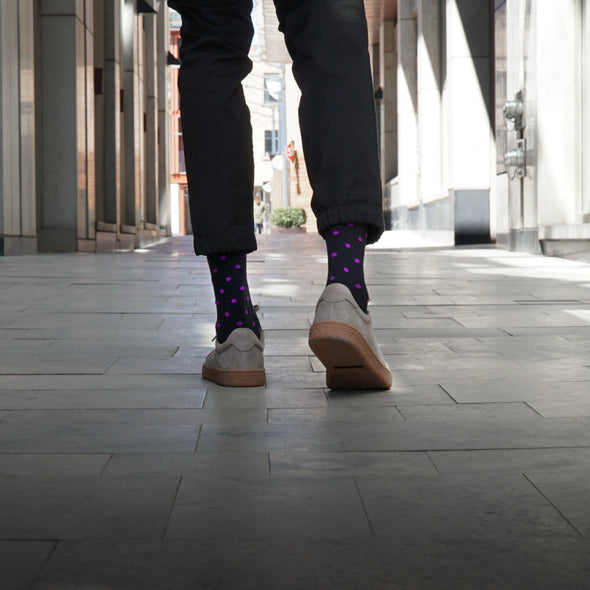 SILVER CREW DRESS SOCKS | NIGHT MAUVE