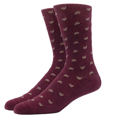 SILVER CREW DRESS SOCKS | PAISLEY ROUGE