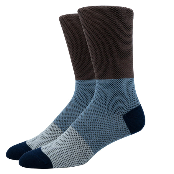 SILVER CREW DRESS SOCKS | PIQUE