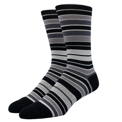 SILVER CREW DRESS SOCKS | SHADES OF GREY