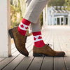 MEN'S SILVER CREW DRESS SOCKS | CANUCK