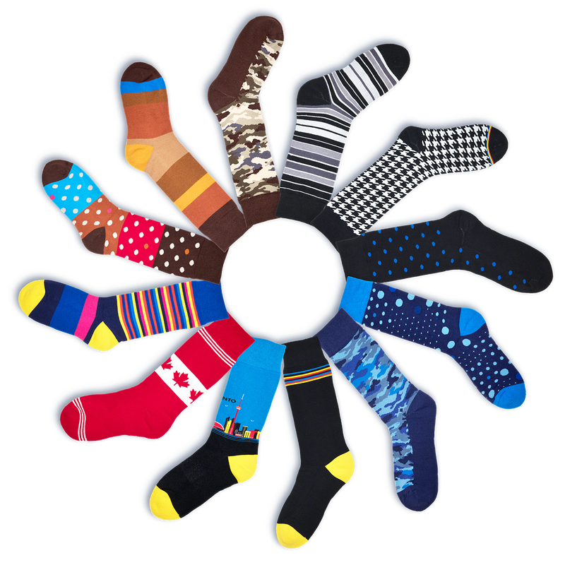 A variety of HOT looking SIXSOX which are anti-bacterial, anti-odor silver men's socks