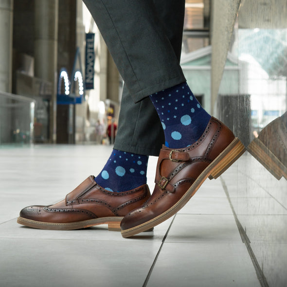 SILVER CREW DRESS SOCKS | THE BLUES
