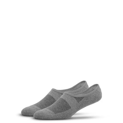 WOMEN'S SILVER NO SHOW SOCKS | GREY