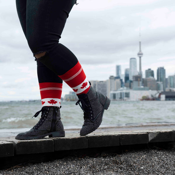 WOMEN'S SILVER CREW DRESS SOCKS | CANUCK