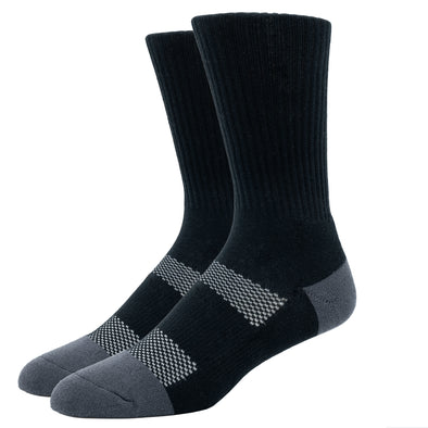 MEN'S SILVER WORK SOCKS | BLACK - SM/MED
