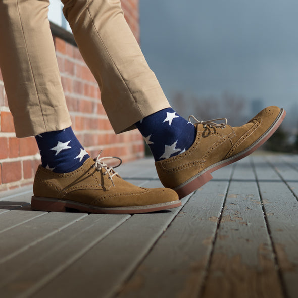 SILVER CREW DRESS SOCKS | AMERICANA