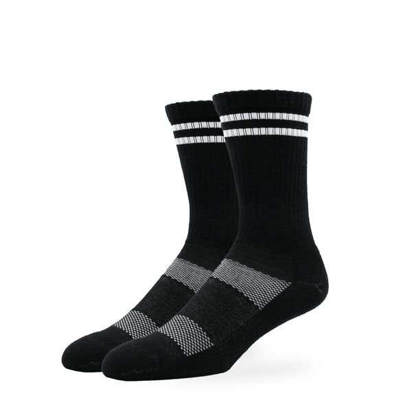 WOMEN'S SILVER RETRO SOCKS | BLACK