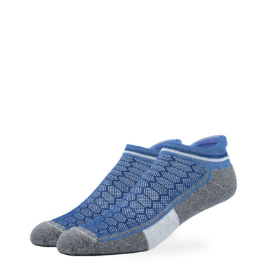 MEN'S SILVER ANKLE SOCKS | DENIM