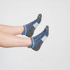 WOMEN'S SILVER ANKLE SOCKS | DENIM