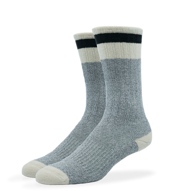 WOMEN'S SILVER BOOT SOCKS | GREY BLACK