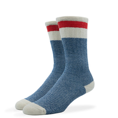 WOMEN'S SILVER BOOT SOCKS | BLUE RED