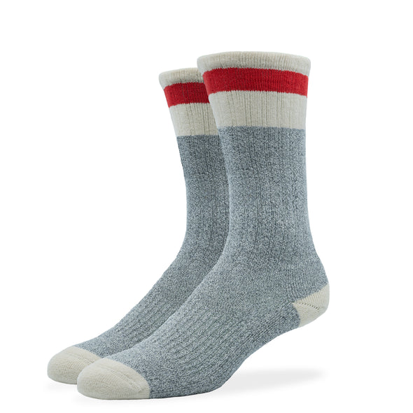 WOMEN'S SILVER BOOT SOCKS | GREY RED