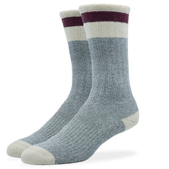 MEN'S SILVER BOOT SOCKS | GREY ROUGE