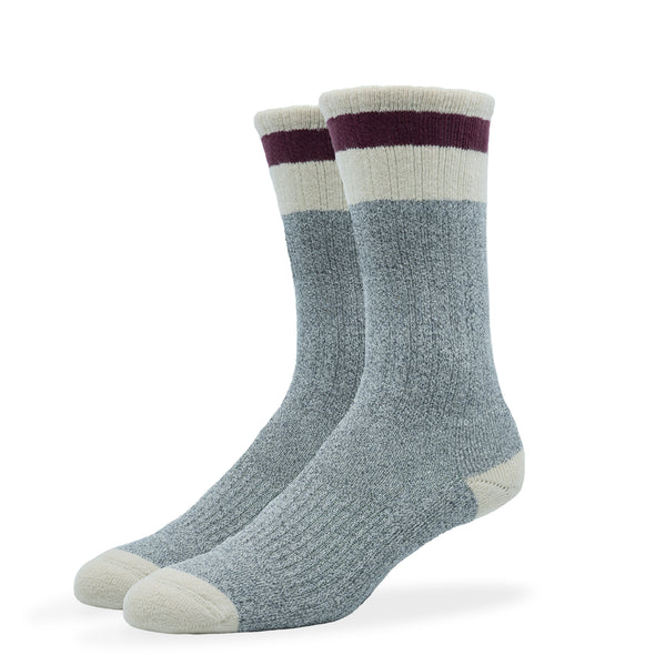 WOMEN'S SILVER BOOT SOCKS | GREY ROUGE