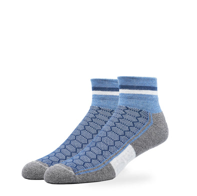 MEN'S SILVER QUARTER SOCKS | DENIM