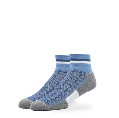 WOMEN'S SILVER QUARTER SOCKS | DENIM