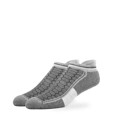 MEN'S SILVER ANKLE SOCKS | GREY