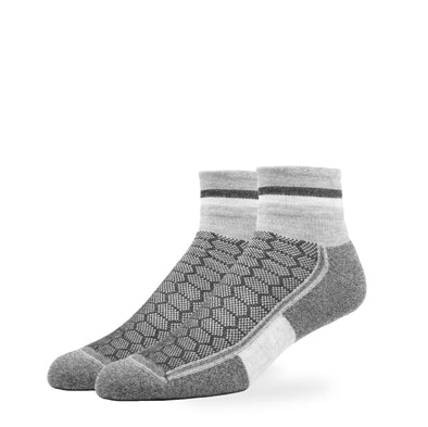 MEN'S SILVER QUARTER SOCKS | GREY