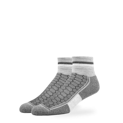 WOMEN'S SILVER QUARTER SOCKS | GREY