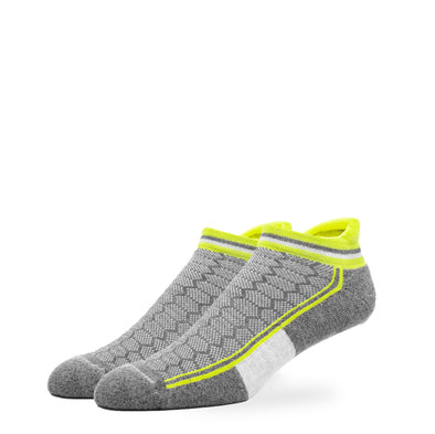 MEN'S SILVER ANKLE SOCKS | NEON