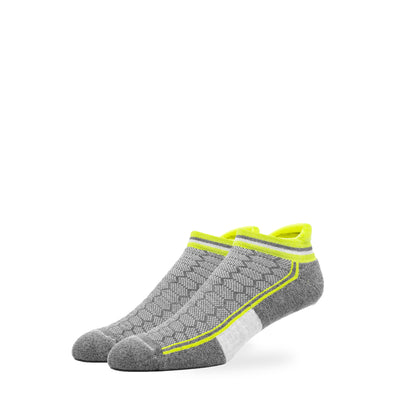 WOMEN'S SILVER ANKLE SOCKS | NEON