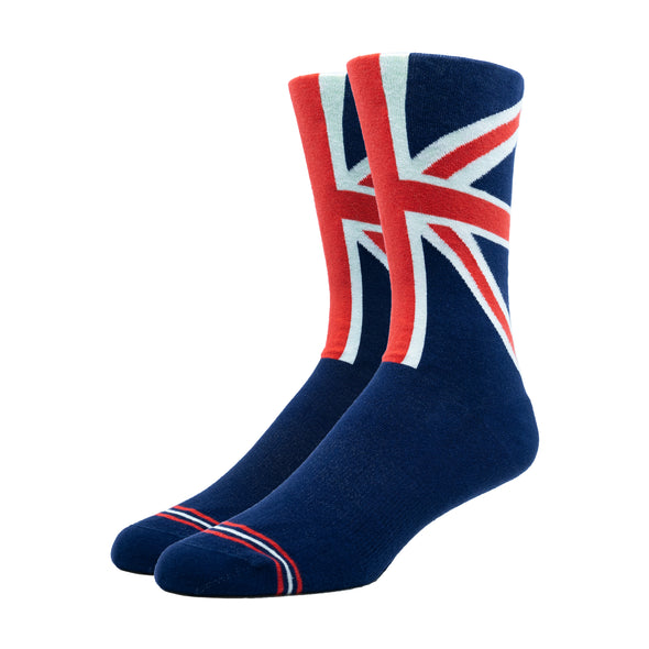WOMEN'S SILVER CREW DRESS SOCKS | UNION JACK