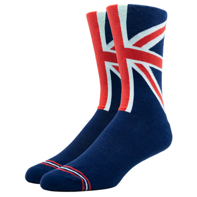 MEN'S SILVER CREW DRESS SOCKS | UNION JACK