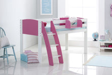 Scallywag Kids Fixed Cabin Bed - Curved Ladder